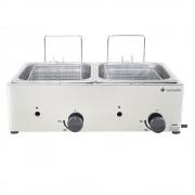 Fritadeira Industrial a Gás com 2 cubas de 5 Litros Cada em Inox