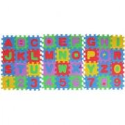 Magideal Foam Puzzle Mat Alphabet Number Puzzle Constructing Blocks Educational Toys