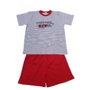 Speed Race pyžamo kluk 7-8 let červená