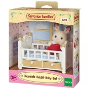 Sylvanian Families Crib Baby with Chocolate Rabbit Baby