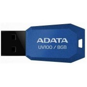 Stick USB A-DATA UV100 Slim Bevelled 8GB (Albastru)