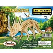 Puzzled Styracosaurus de madera 3d Puzzle Construcción Kit