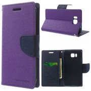 Korean Mercury Fancy Diary Wallet Case for Samsung Galaxy Alpha - Purple