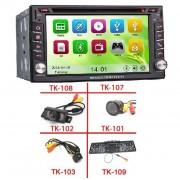 """6.2"""" HD Érintőkijelzős DVD 2 DIN fejegység, GPS vevővel + Vezeték nélküli tolatókamera szett"""