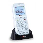 TTfone Saturn (TT900) - Téléphone Portable à Grosses Touches - Ecran Large - Débloqué - Bluetooth - Caméra - Touche Appel d'Urgence - Facile à utiliser - Blanc