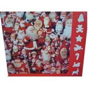 Springbok 600 Piece Puzzle - Ho Ho Ho Ho Ho Ho.... - Christmas Themed Puzzle Featuring Various Santa Claus Figurines PZL5974