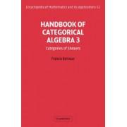 Handbook of Categorical Algebra: Volume 3, Sheaf Theory: Sheaf Theory v. 3 by Francis Borceux
