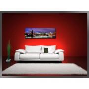 Tablou canvas abstract arta digitala 3D - negru cu rosu, BM1P6849-1