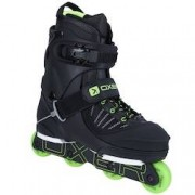 Oxer Patins Oxer Vert Ssils - In Line - Street - ABEC 3 - Adulto - PRETO/VERDE CLA