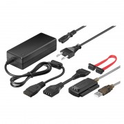 Convertor USB pentru IDE/SATA Goobay, alimentator inclus