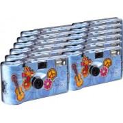 TopShot Flower Power Cámaras desechables (27 fotos, flash, 12 unidades), color azul [Importado de Alemania]