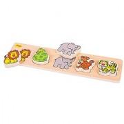 Bigjigs Toys BB015 Chunky Lift and Match Safari Puzzle