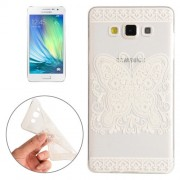 For Samsung Galaxy A3 / A300F Butterfly and Flower Pattern TPU Protective Case