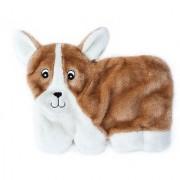 ZippyPaws Squeakie Pup 11-Squeaker No Stuffing Plush Dog Toy Corgi