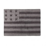 Miliboo Tapis design coton 120 x 160cm gris USA