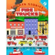 Sticker Stories: Fire Trucks by Edward Miller