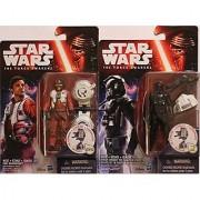 Star Wars Episode VII The Force Awakens 3.75 First Order Tie Pilot & X-Wing Pilot Poe Dameron Troop Builder Action Figures - Set of 2