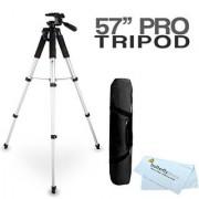 57 Camera Tripod w/ Carrying Case For Nikon Coolpix P600 P610 P530 P520 P510 S9300 D800 L620 S4200 S5200 S9200 S9400 S9500 S6500 S6600 S6800 S5300 L330 L340 L830 L840 Digital Camera