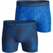 Björn Borg Shorts 2er-Pack Blau Grafik - Blau S