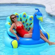 Swimline Giant Peacock Premium Bird Lounger for Swimming Pools Pool Float
