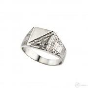 Egyköves ezüst sportgyűrű