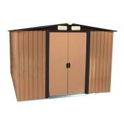 Braun Zelsius - Gerätehaus, braun, Geräteschuppen mit Giebeldach, 2m x 2,5m