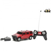 The FlyerS Bay R/C 124 Hummer H2 Suv (Red)