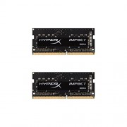 HyperX Impact Memoria DDR4 da 8 GB, 2400 MHz, CL14 SODIMM 260-pin, Kit (2x4 GB), Nero