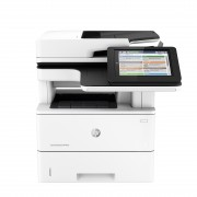 HP 43ppm A4/45ppm letter mono Flow multi-function printer copy Fax duplexer HIP 8 touchscreen, HP EveryPage selectable background keyboard HDD, convenience stapler 100-sheet bypass tray 550 sheet HP Las