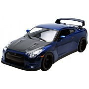Jada Toys - 97035 - Fast and Furious 7, Modellino di Nissan Gtr-R35 2009, scala 1/18