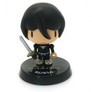 Rukia ~1.5 mini-figure with weapon charm (+ ~0.25 stand) [Bleach Thumbnaillook Series] (Japanese Imported)