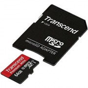 Transcend 64Gb Microsdxc Class10 Uhs-1 Memory Card With Adapter 45 Mb/S - Ts64Gusdu1