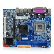 Intel G31B+L(3) Micro ATX LGA 775 DDR2 Computer Motherboard - Blue + Silver