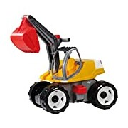 Lena 02062 Strong Big Digger in White/Yellow, 80 cm
