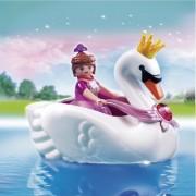 Printesa cu barca in forma de lebada, PLAYMOBIL Princess Castle