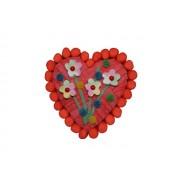 Tarta Coeur flores