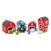 Melissa & Doug Nesting and Sorting Barns and Animals with 6 Numbered Barns and Matching Wooden Animals, Multi Color