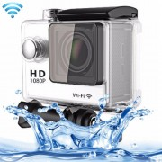 N9 1080P HDMI Waterproof Sport Action Camera Professional Portable 2.0 inch Screen 140 Degrees Wide Angle Lens Support WiFi Function Water Resistant Depth: 30M(White)