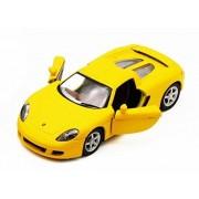 Porsche Carrera Gt, Yellow Kinsmart 5371 D 1/36 Scale Diecast Model Toy Car