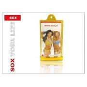 SOX X-FAN01YL univerzális vízálló mobiltelefon tok - sárga
