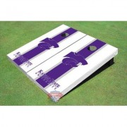 All American Tailgate NCAA Matching Long Stripe Cornhole Board ALMT1089 NCAA Team: Kansas State University Wildcats Word Mark 1