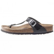 Birkenstock Gizeh Birko-Flor Regular Fit Sandals In Black Patent Black