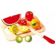 Bucatarie copii New Classic Toys Cutting Meal Fruit 8 Pcs