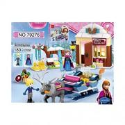 Pepperonz 180pcs Happy Princess Anna And Kristoff Sleigh Building Blocks Toys