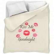 Trapuntino leggero con stampa digitale Kiss Me per letto matrimoniale L171