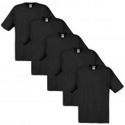 Fruit of the Loom 5 t-shirts noirs 100% coton Original XL