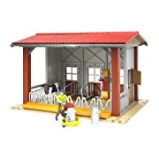 Bruder Cow Barn with Milking Machine, Cow and Figure