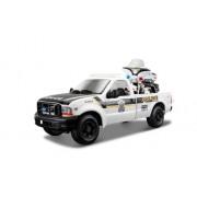 Maisto 532186 - Macchinina della polizia Harley Davidson Ford F-350 Superduty Pickup '1999 + FLHTPI Electra Glide 2004, in scala 1:24