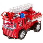 Fire Truck Toy With Extending Ladder Battery Operated Fire Engine With Lights And Sounds Bump N Go Action