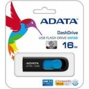 USB Flash Drive ADATA DashDrive UV128 16GB USB 3.0 Negru-Albastru